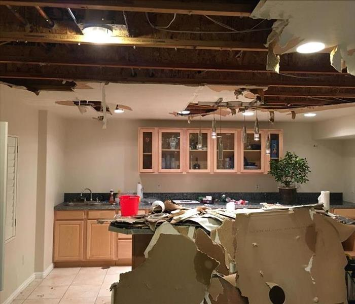 Ceiling Damage From Water Loss
