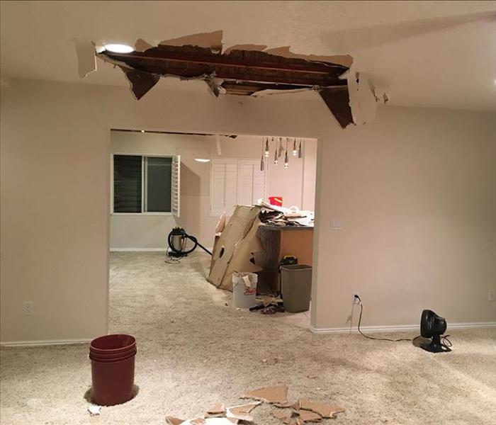 Damaged Ceiling From Storms