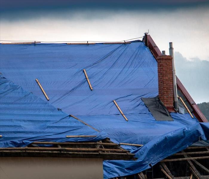 Storm Damage Temporary Roof Damage Mitigation in Four Steps